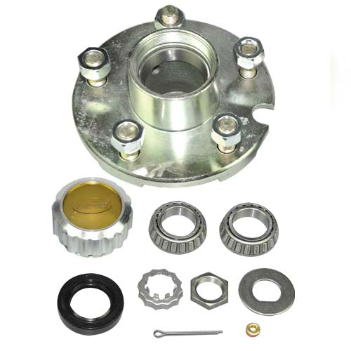 5 on 4 1/2' Hub Kit c/w Bearing Kit (L44649 x2) & Oil Cap