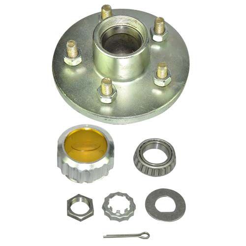5 on 4 1/2' Idler Hub c/w Bearing Kit (L68149 & L44649 ) & Oil Cap